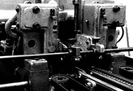 een deel van een vintage drukmachine 2 Stockfoto
