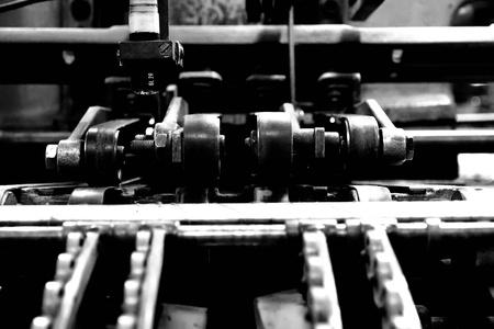 part of a vintage printing machine 2