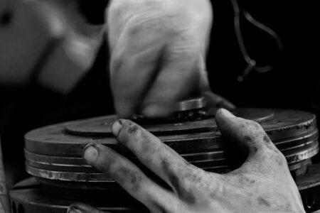 dirty hands - mechanics at work 스톡 사진