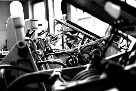 deel uit van een vintage drukmachine