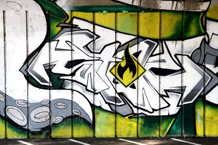graffiti kunst Novi Sad Servië Stockfoto