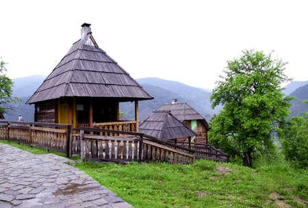 oude houten huizen