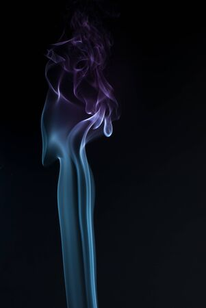 glow stick: Beautiful smoke on the black background - macro photo.