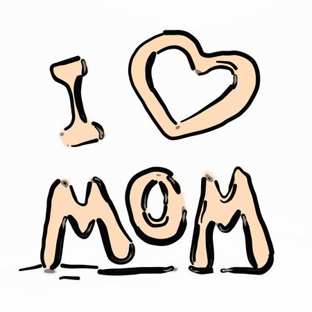 agradecimiento: Día de la Madre Feliz volar letras. ilustración 3D