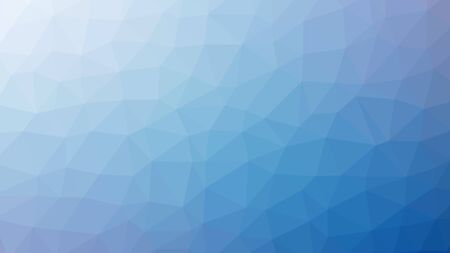 blue abstract background consisting of low poly triangles.