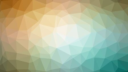 emplate: brown green abstract background consisting of low poly triangles.