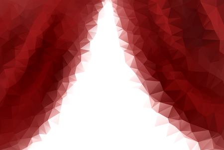 low prizes: low poly empty red stage entrance curtains.