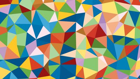 raibow: Abstract raibow colorful vector lowploly of many triangles background for use in design.