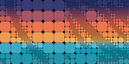 building structure: Square blue orange violet gradient geometrical abstract background.