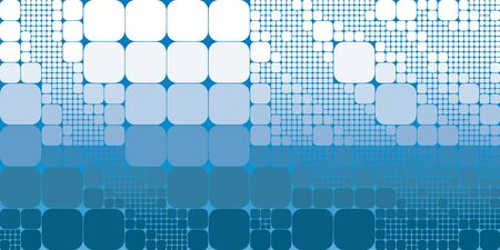 Square blue white gradient geometrical abstract background.
