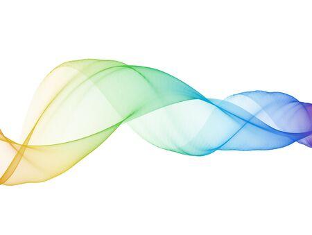 rainbow abstract weavy bright silk smoke vector illustration on white background.
