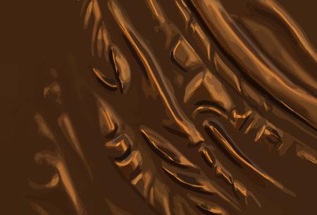 bronze background: abstract vector metal bronze background illustration. eps10. Illustration
