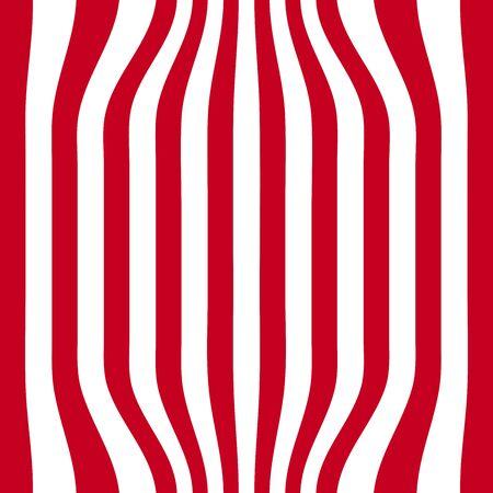 zebra skin: Striped abstract background. red and white zebra print. illustration. Stock Photo