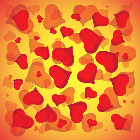 valentine s: Abstract vector love background full of hearts. Valentine s day for card.