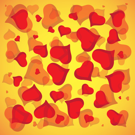 Abstract vector love background full of hearts. Valentine s day for card.
