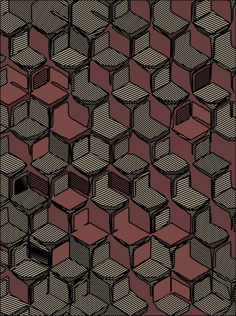 cell block: abstract background hexagonal technology illustration for print.