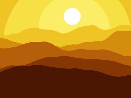 wilderness area: Mountains on the Sun background. Vector EPS10 illustration. Illustration