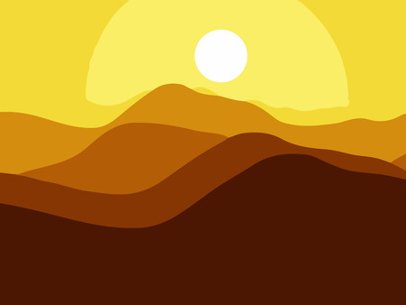 himalayas: Mountains on the Sun background.