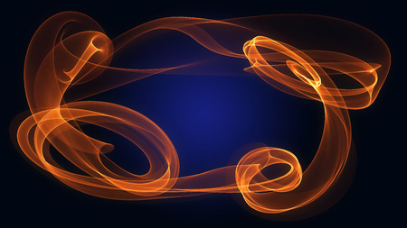 suspenso: abstract red orange flame smoke frame over dip blue background with copyspace