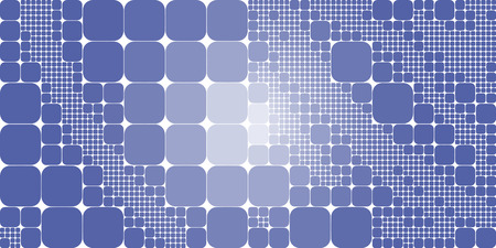 large group of objects: Square blue white gradient geometrical abstract background.