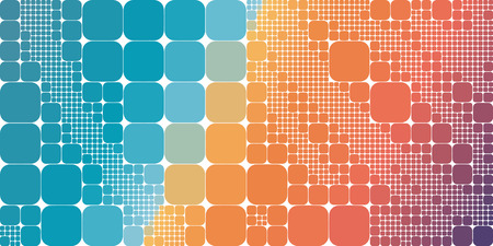 Square blue orange violet gradient geometrical abstract background.