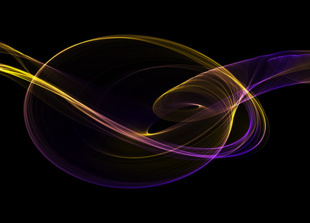 suspenso: abstract colorful wavy smoke flame over black background Foto de archivo