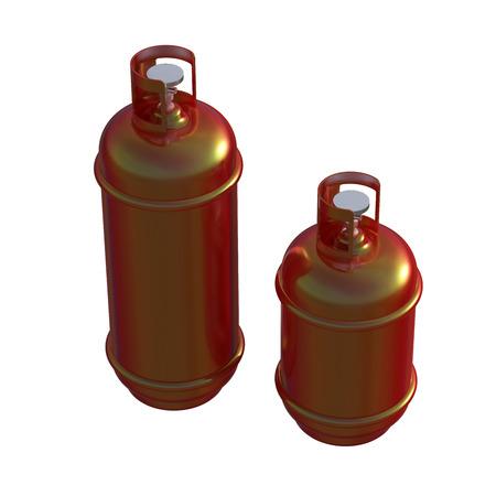 propane gas: Propane gas cylinder isolated on a whitebackground . 3d illustration Stock Photo