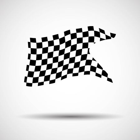 Racing background checkered flag vector illustration. EPS10 Illustration