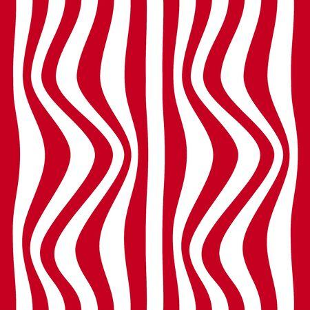 zebra skin: Striped abstract background. red and white zebra print. Vector illustration.