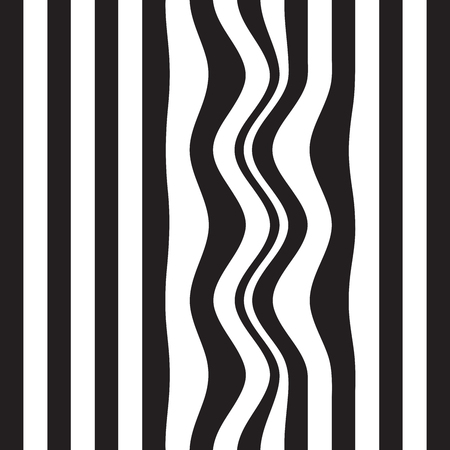 interference: Striped abstract background. black and white zebra print. Vector illustration. eps10
