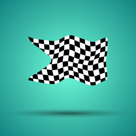 A racing background with checkered flag vector illustration. EPS10.