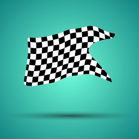 Checkered flag for racing background vector illustration. EPS10.