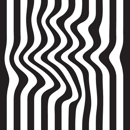 edges: Striped seamless abstract background. black and white zebra print. illustration