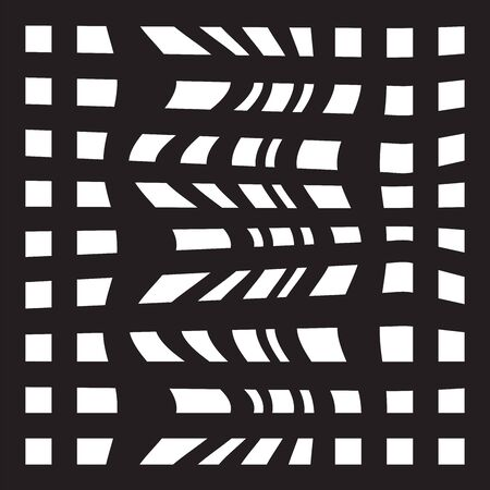 edges: Striped abstract background. black and white zebra print. illustration.