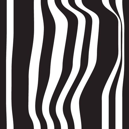 folds: Striped seamless abstract background. black and white zebra print. illustration. Stock Photo