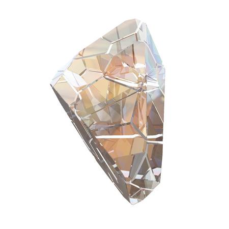 Amazing colorful Diamond Quartz Rainbow Flame Blue Aqua Aura crystal cluster closeup macro isolated on white background. abstract jewelry 3d illustration. Stock Photo