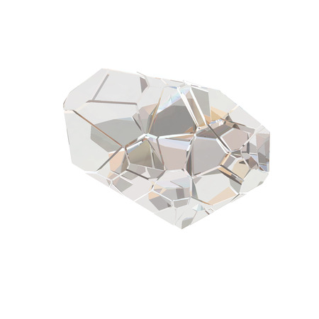 rainbow abstract: Amazing colorful Diamond Quartz Rainbow Flame Blue Aqua Aura crystal cluster closeup macro isolated on white background. abstract jewelry 3d illustration. Stock Photo