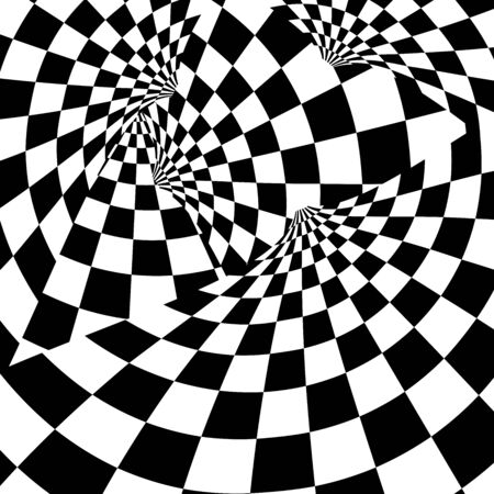 Racing background with checkered flag abstract illustration.