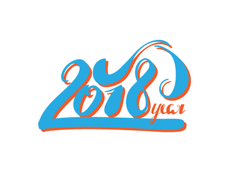 numbers abstract: 2018 Happy New Year or Christmas Background creative greeting card design, can be used for flyers, invitation, posters, brochure, banners, calendar.