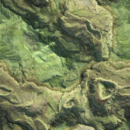 Widok z lotu ptaka z samolotu gór tekstura tło. ilustracja 3d