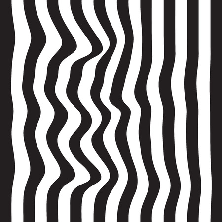 Striped seamless abstract background. black and white zebra print. Vector illustration. eps10. Vectores
