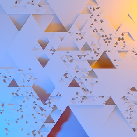 Abstract Irregular Futuristic architectural pattern, triangles 3d illustration background Stock Photo