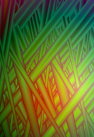 Vector vivid green red grass abstract glitch background for design. Eps10. Çizim
