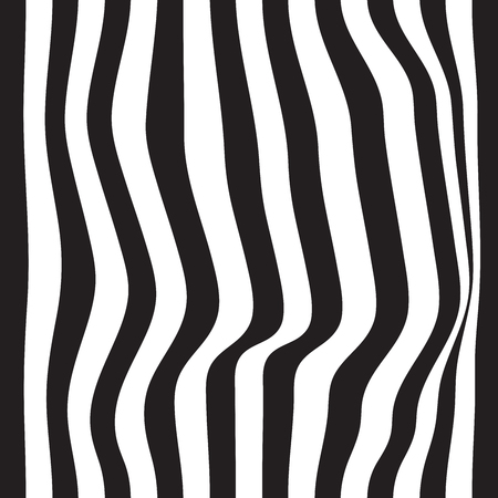Striped seamless abstract background. black and white zebra print. Vector illustration. eps10 Stock Photo