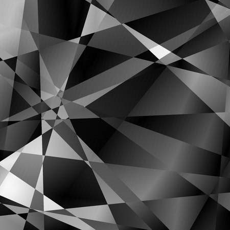 Abstract blackandwhite metal glitch squared triangle background for design. Vector Eps10 illustration