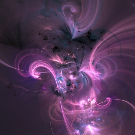 Glowing ligh violet curved energy lines over dark Abstract Background space universe. Illustration