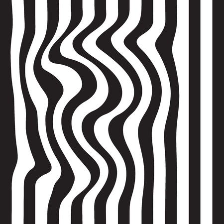 Striped abstract background. black and white zebra print. seamless illustration Stock Photo