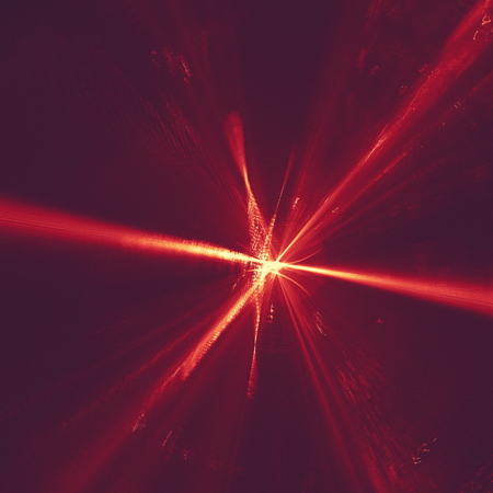 glowing red curved lines over dark Abstract Background space universe. Illustration Stok Fotoğraf