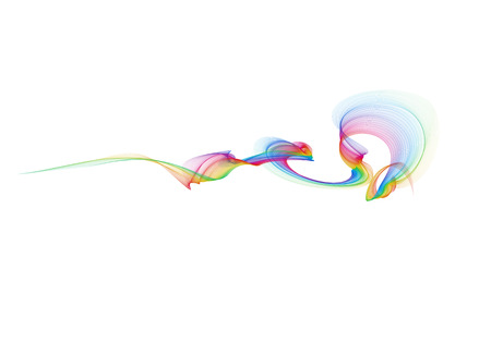 abstract eco fresh rainbow smoke flame over white background