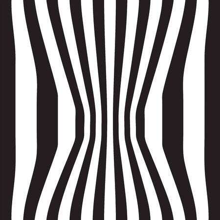 Striped abstract background. black and white zebra print. Vector illustration.